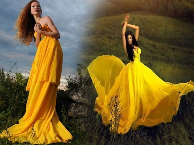 6e2327ec7c0 1 Модное желтое платье — фото 2018