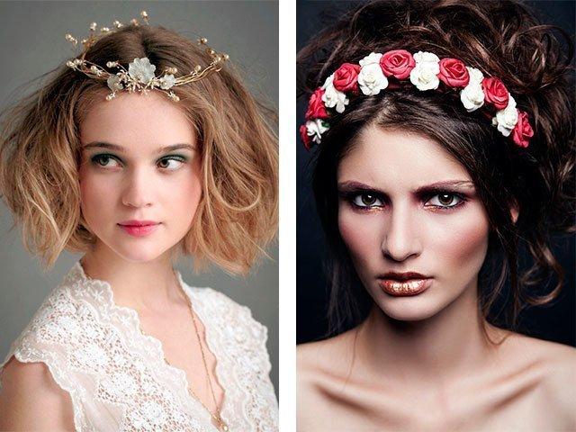 Украшения для волос с цветами