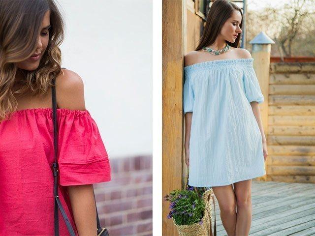 Сшить платье летнее с открытыми плечами