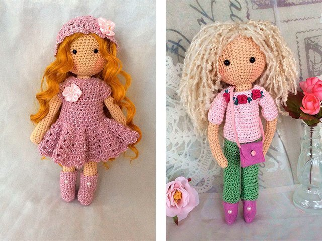 Красивые куклы крючком