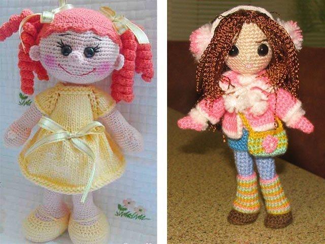 Маленькие вязаные куклы
