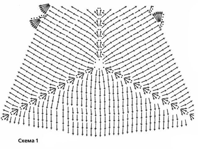 купальник крючком схема и описание как связать