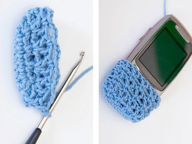 6-2 Вязание чехла для телефона крючком: как связать своими руками, варианты схем сумочки для смартфона