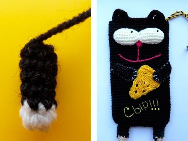 7-1 Вязание чехла для телефона крючком: как связать своими руками, варианты схем сумочки для смартфона