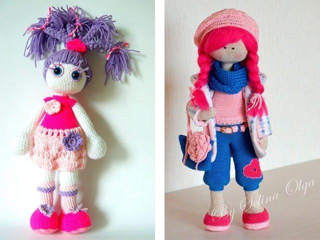 Необычные вязанные куклы фото