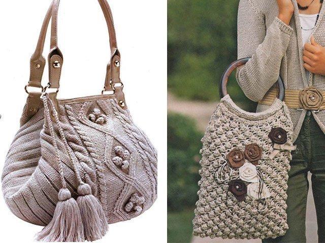 1f85b6f75284 Сейчас модно создавать летние вязаные сумки своими руками спицами из  трикотажной пряжи – они получаются очень мягкие и необычные. Узор можно  выбрать самой: ...