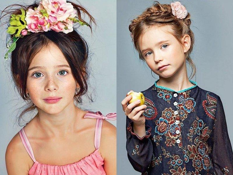 Украшения с цветами для девочек