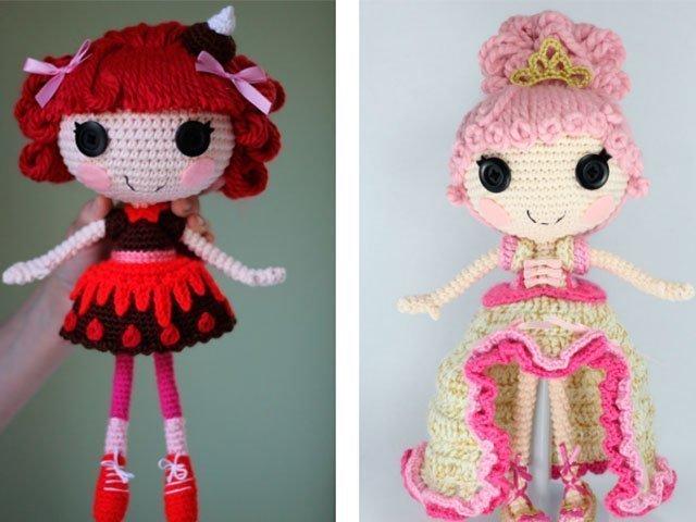 Куколка-принцесса из пряжи