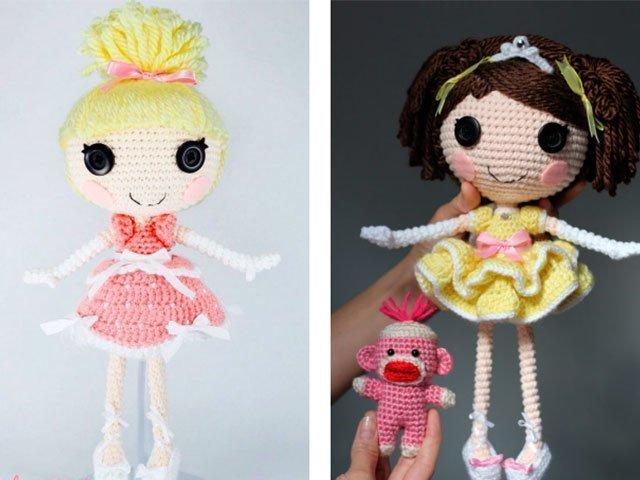 Кукла-принцесса крючком