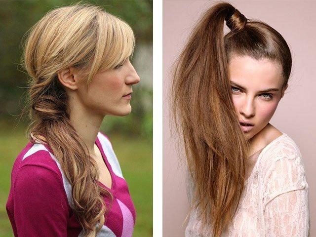 Прически коса с челкой фото