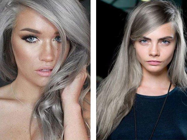 Цвет волос фиолетово пепельный фото