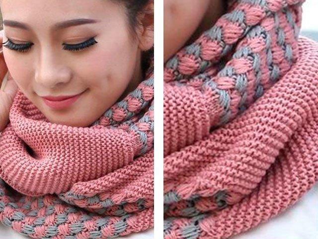 1-59 Как связать мужской шарф снуд спицами протектор и капюшон? Мужской шарф снуд спицами с описанием: схемы