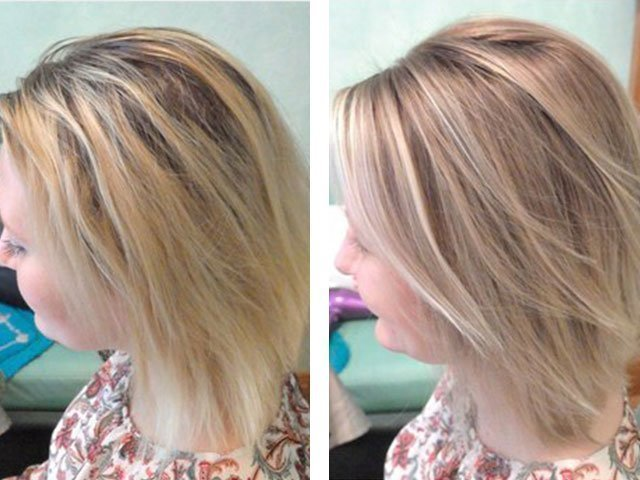 брондирование волос фото на светлые