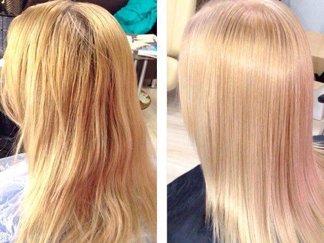 Тонирование волос после мелирования в домашних условиях чем 61