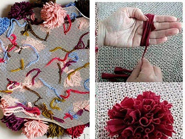 Как научиться вязать коврики спицами