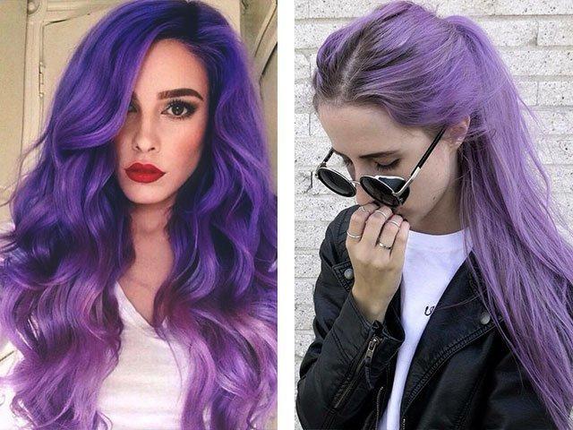 Порно девочка фиолетовыми волосами