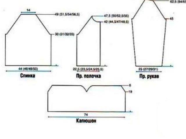 44-3 Кофта спицами: как связать, инструкция для начинающих, схемы, видеоуроки.
