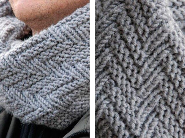 шарф как связать спицами вязание для начинающих