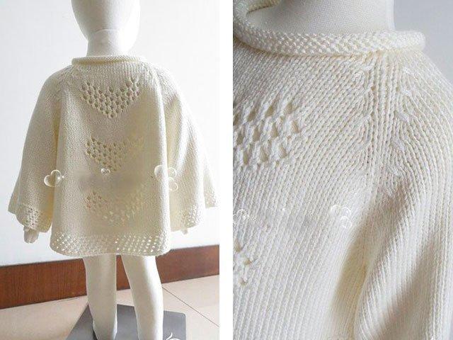 Пуловер-пончо с ажуром. Схемы.