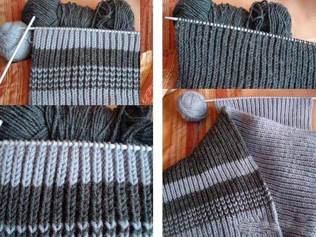 shema-3 Как связать мужской шарф снуд спицами протектор и капюшон? Мужской шарф снуд спицами с описанием: схемы