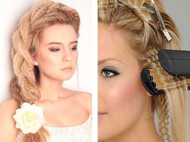 Прически с кудрями на средние волосы с челкой фото пошагово