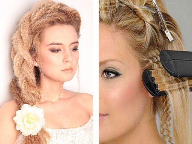 прически с кудрями на средние волосы с фото