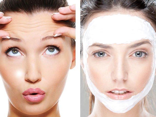 маска для лица с крахмалом с эффектом ботокса