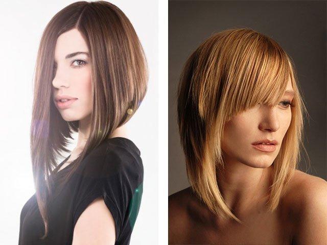 техника стрижка лесенка на средние волосы