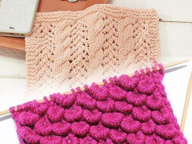 ажурные схемы вязания спицами для начинающих