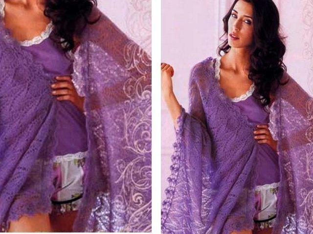 Схемы вязания шалей 54