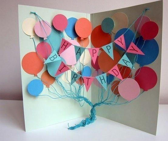 Открытка на день рождения своими руками для