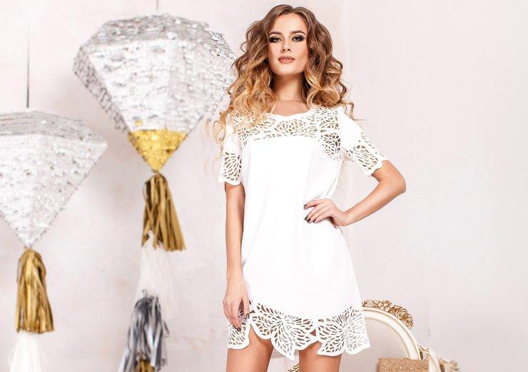 Модные белые платья 2019
