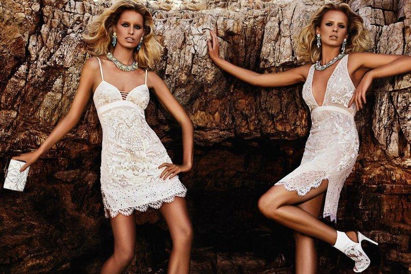 Сексуальные белые платья