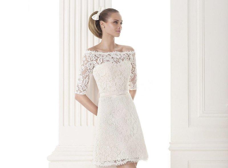 Свадебное коктейльное платье