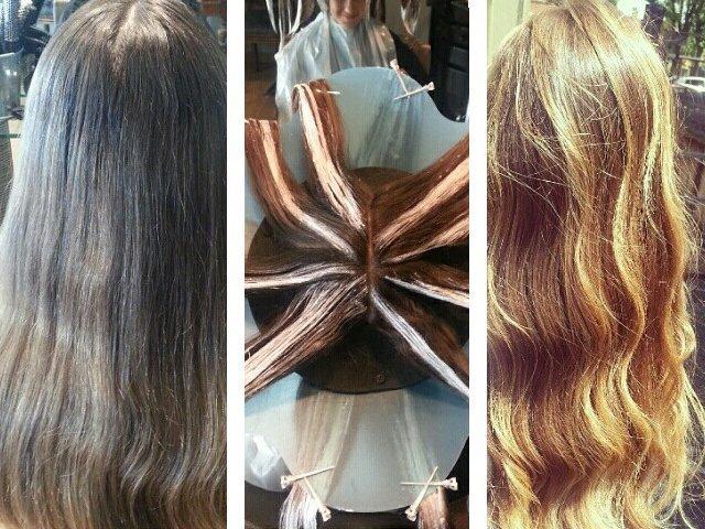 Шатуш на темные волосы: фото до и после