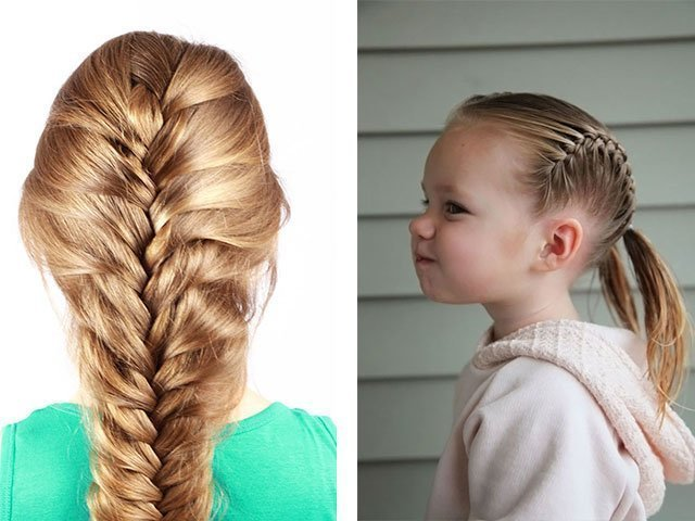 Плести косички девочкам с короткими волосами