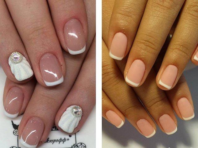 Фото белого френча для коротких ногтей