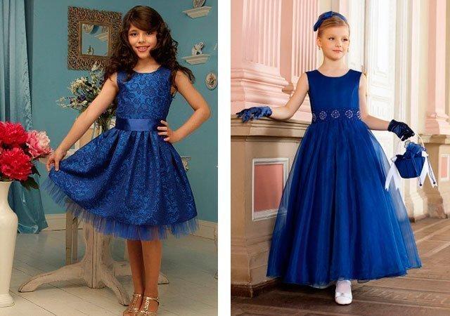2f41098a2dc0 Модное синее платье  фото, новинки (2018)