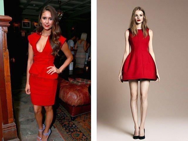 Сексуальное красное платье на выпускной