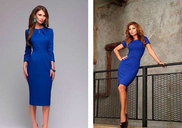 f3cc515a92a Платье синего цвета  с чем носить