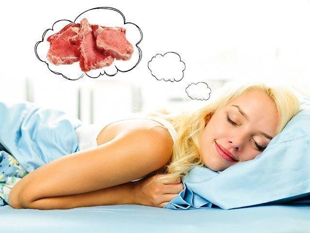 К чему снится сырое мясо без крови женщине