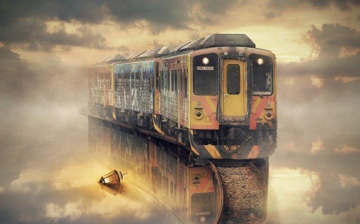 Разрушенный поезд во сне