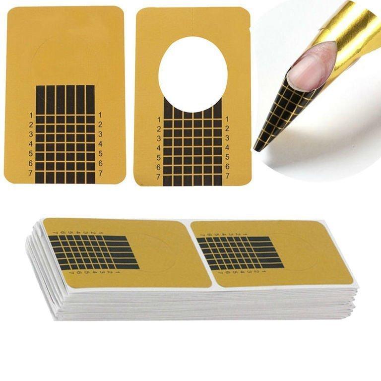Бумажные формы для наращивания ногтей гелем