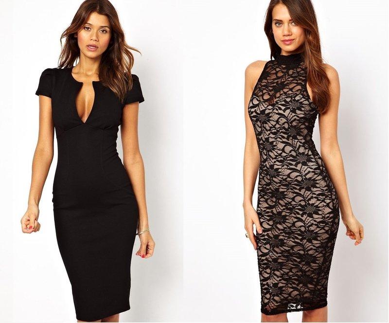 8277cf90214c12e Черное платье-футляр: модные образы, аксессуары, фото