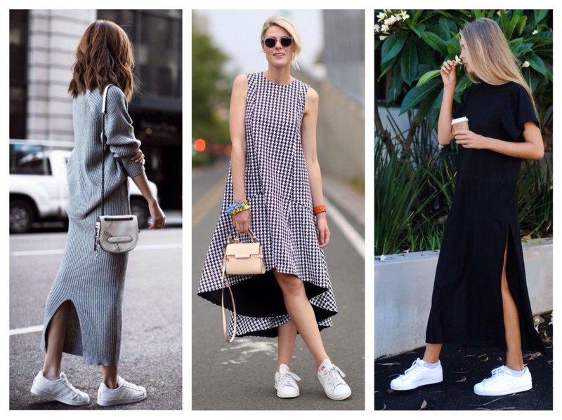 Кроссовки с платьем