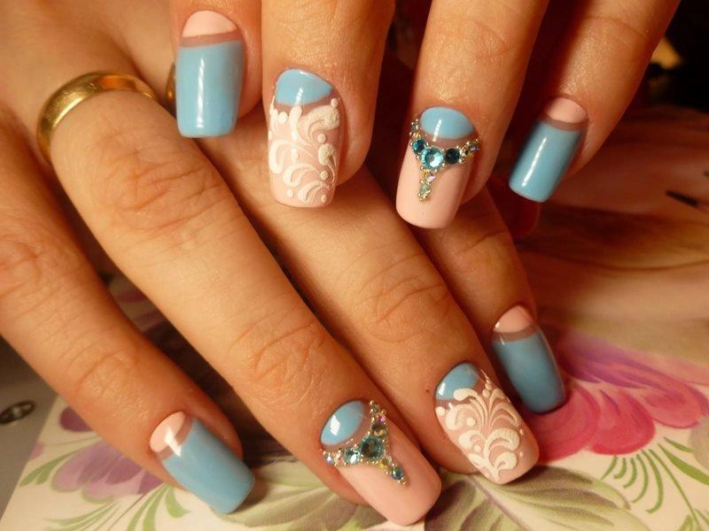 Прорисовка дизайна на ногтях