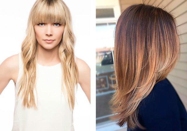 Удлиненные женские стрижки на тонкие волосы