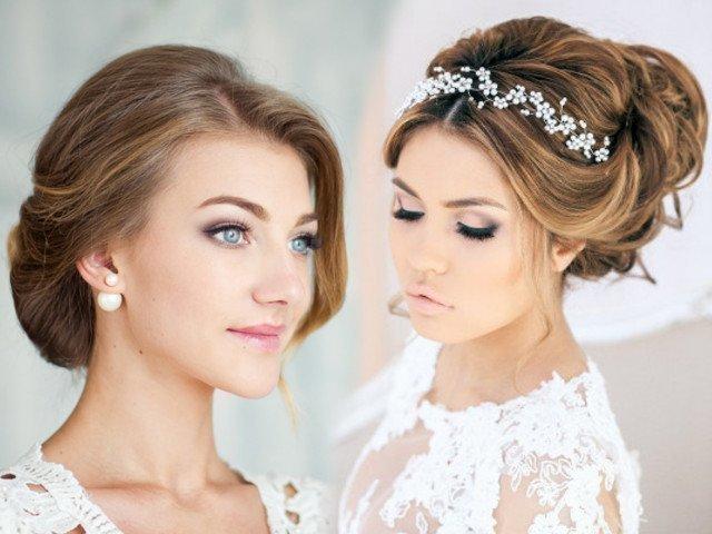 Свадебные прически фото на средние волосы в домашних условиях 169