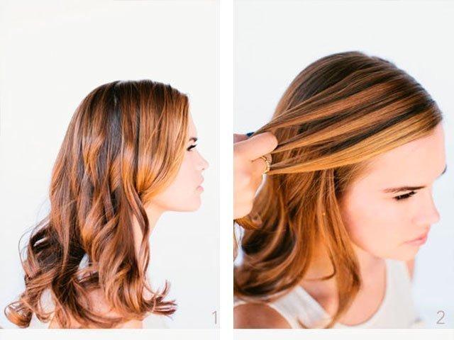 Причёска с распущенными волосами на каждый день