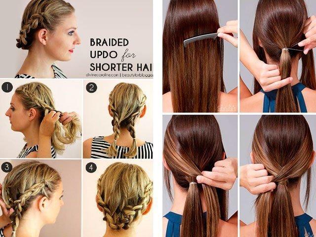 как уложить быстро волосы до плеч